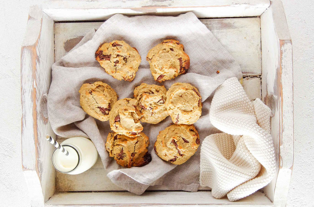 Chocolate Chunk Chickpea Cookies