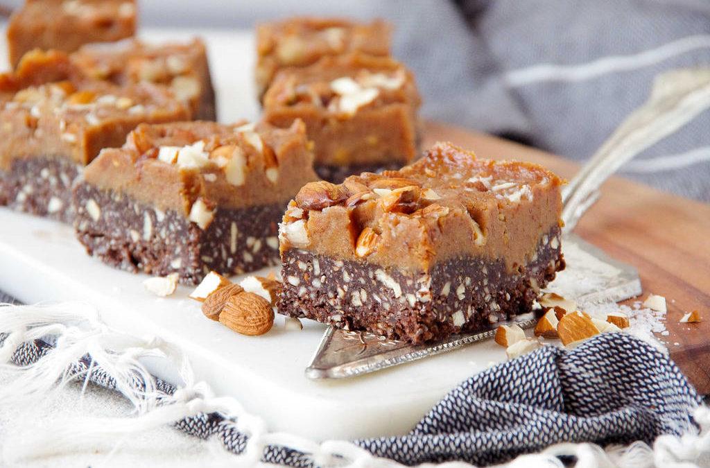 Almond Caramel Fudge Slice