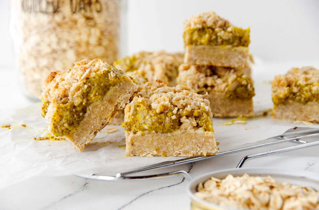 Mango Chia Crumble Bars