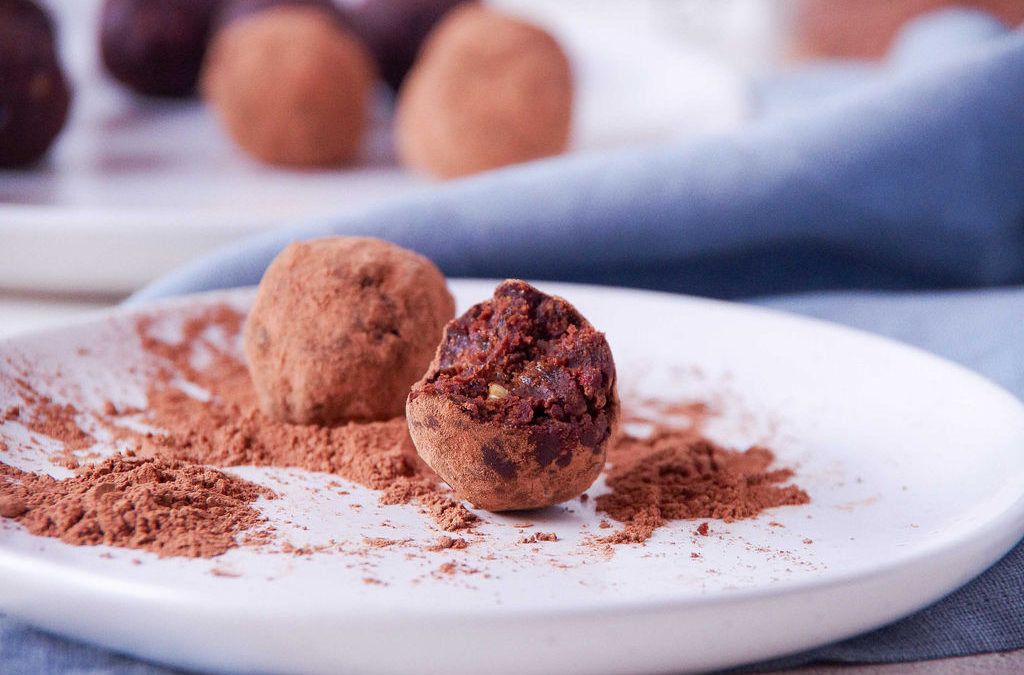 Walnut & Goji Chocolate Rum Truffles