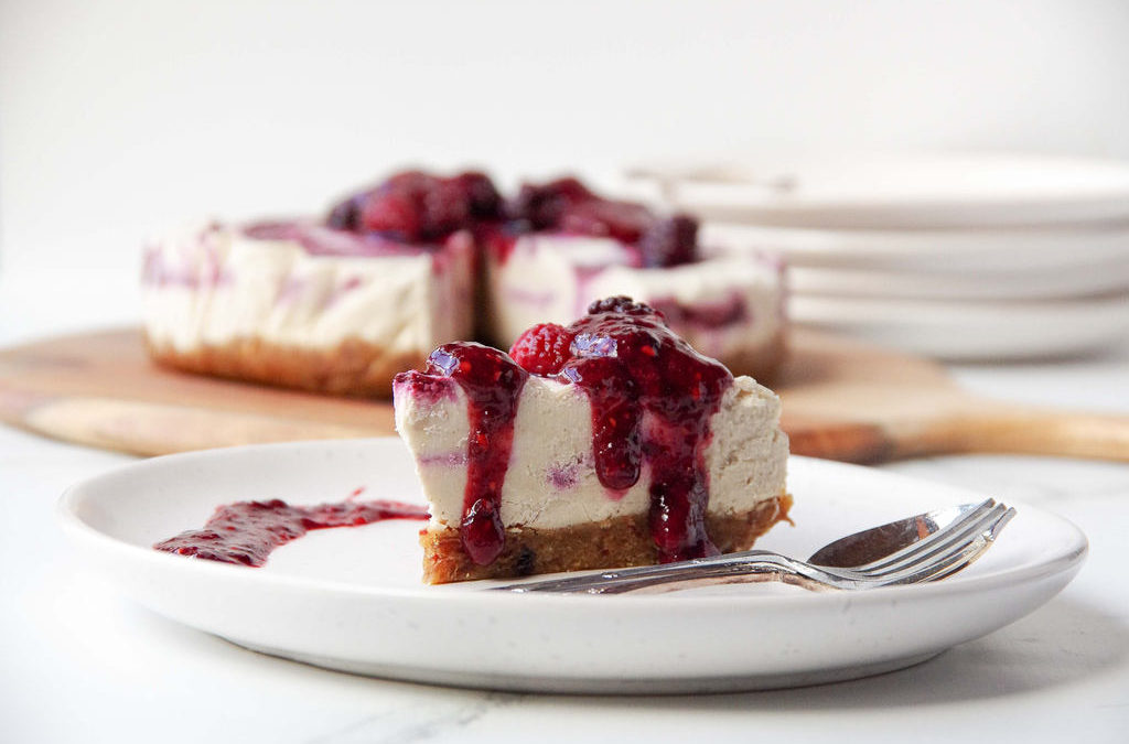 Berry Swirl Raw Cheesecake
