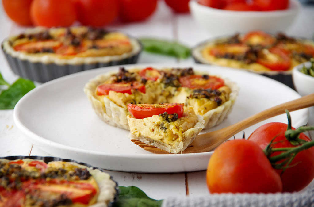 Cherry Tomato & Pesto Mini Quiches