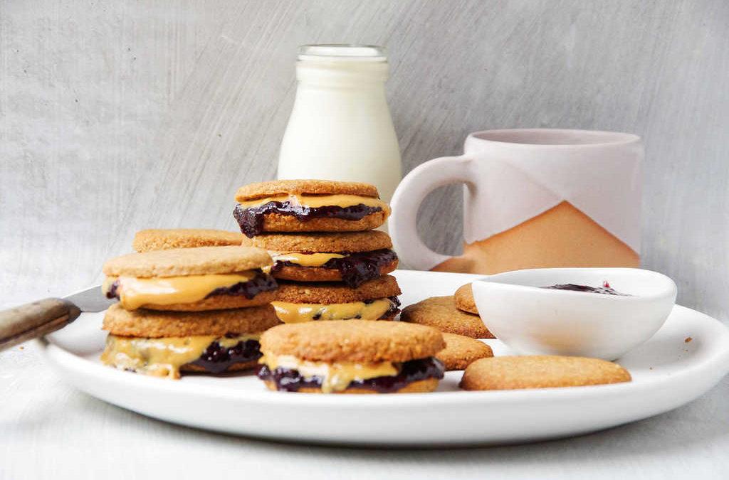 PB & J Oat Coconut Cookies
