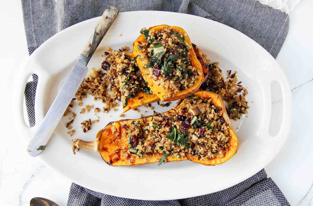 Quinoa & Black Rice Stuffed Butternut