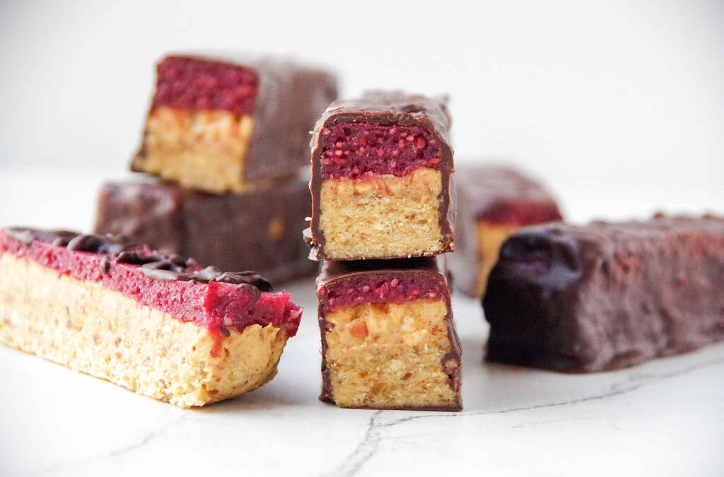 Peanut Butter & Mixed Berry Chocolate Bars